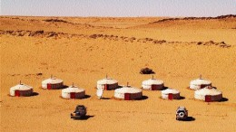 A Batu Mining camp in Mongolia's Gobi Desert. The company is exploring numerous properties throughout the country.