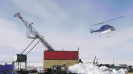 STORNOWAY DIAMONDA drill platform at Stornoway Diamond's Aviat project in eastern Nunavut, where the company plans to focus the lion's share of its exploration dollars in 2006.