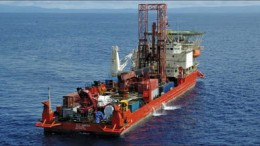A vessel at Nautilus Minerals' Solwara 1 copper-gold project in the Bismarck Sea. Photo by Nautilus Minerals