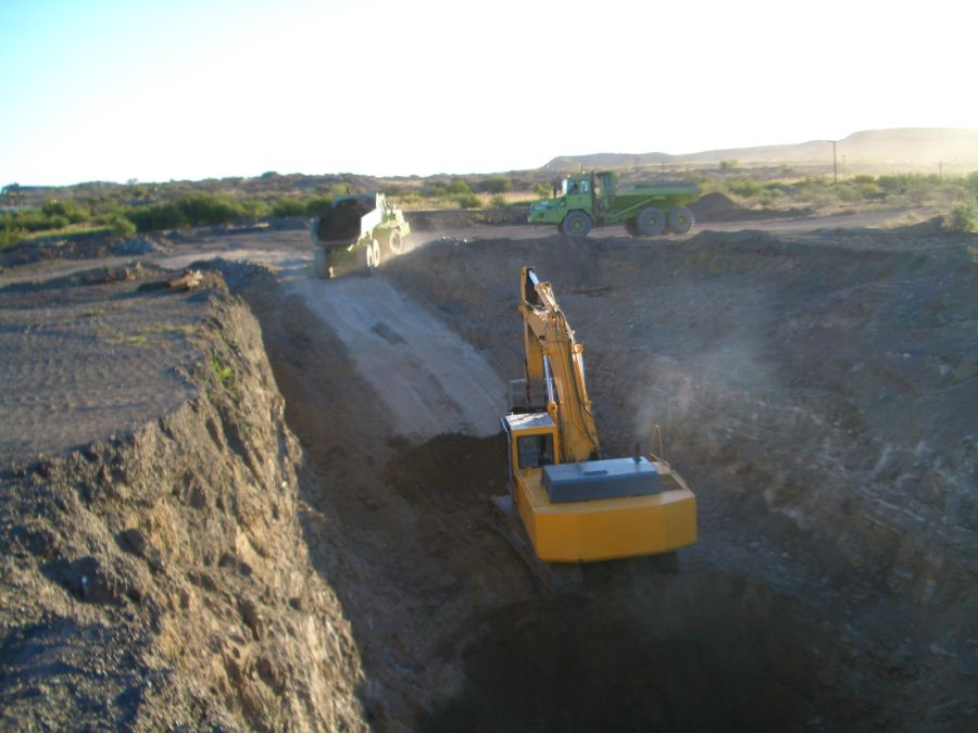 Past trial mining work at Diamcor's Krone-Endora project. Photo by Diamcor Mining