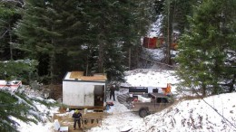 Drillers working at Marathon Gold's Golden Chest project in northern Idaho in February. Photo by Marathon Gold