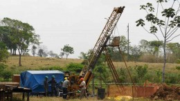 Drillers at Amarillo Gold's Mara Rosa gold project in Brazil. Photo by Amarillo Gold