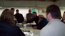 Rubicon staff members discuss the Phoenix gold project located in Red Lake, Ontario. Source: Rubicon Minerals