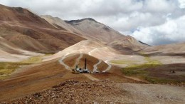 McEwen Mining's Los Azules porphyry copper project in San Juan, Argentina near the Chilean border. Credit: McEwen Mining.