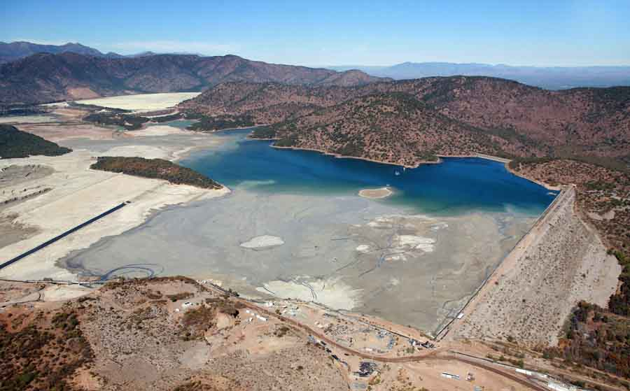 The Colihues tailings pond holds waste from Codelco's El Teniente copper mine near Rancagua, Chile. Amerigo Resources extracts copper and molybdenum from the tailings at its nearby MVC plant. Source: Amerigo Resources