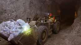 A worker moves material underground at Endeavour Silver's Bolanitos silver mine in Mexico's Guanajuato state. Source: Endeavour Silver