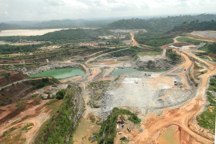 A bird's-eye view of Golden Star Resources' Wassa gold mine in Ghana. Source: Golden Star Resources