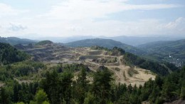 The historic Cetate pit at Gabriel Resources' Rosia Montana gold-silver project in Romania. Source: Gabriel Resources