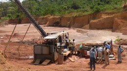 A drill rig at PMI Gold's Obotan gold project in Ghana. Credit:  PMI Gold
