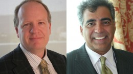 Fission Uranium's president and COO Ross McElroy, and chairman and CEO Dev Randhawa.
