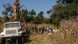 Before the lawsuits: A drill site at El Nino Ventures' Kasala copper project in the Democratic Republic of the Congo. Credit: El Nino Ventures