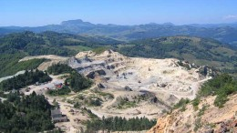 The historic Cetate pit at Gabriel Resources' Rosia Montana gold-silver project in Romania. Credit: Gabriel Resources