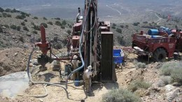 Drillers at Rye Patch Gold's Lincoln Hill gold-silver project in Nevada, 160 km northeast of Reno. Credit: Rye Patch Gold