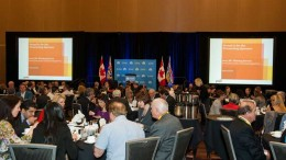 BC Mining Week attendees in Vancouver in May. Photo by Pablo Su.
