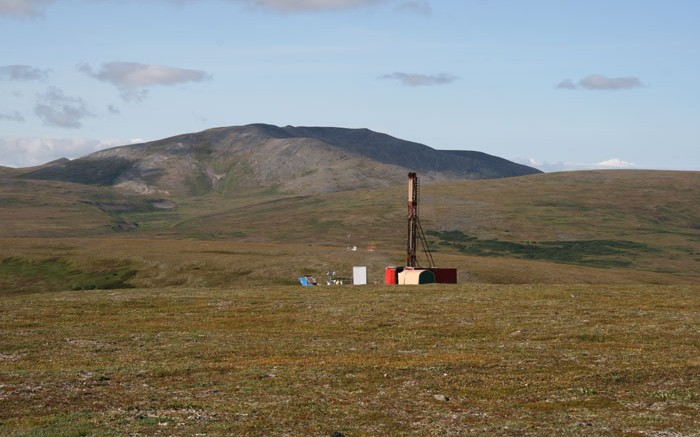 A drill rig at Northern Dynasty Minerals' Pebble project  in Alaska's Bristol Bay. Credit: Northern Dynasty Minerals