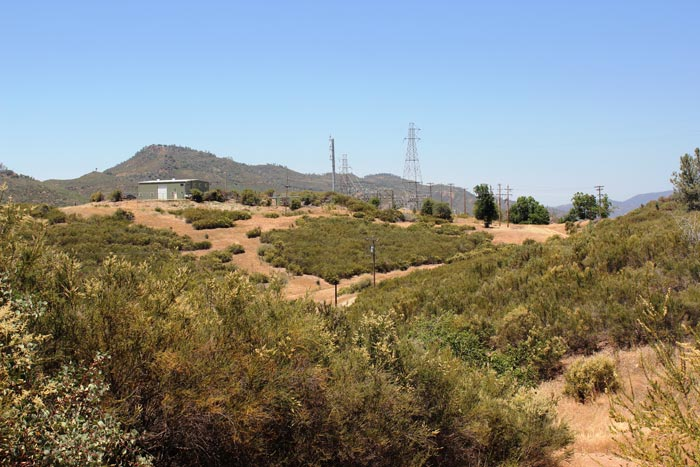 Looking northwest towards the office at California Gold's Fremont gold project in California. Photo by Katie Lister.