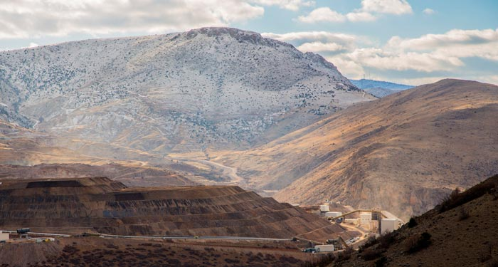 Alacer Gold's 80%-owned Copler gold mine in eastern Turkey, 550 km east of Ankara. Credit: Alacer Gold