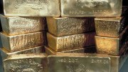 Stacked gold bars. Source: Barrick Gold