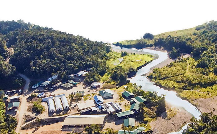 The camp at Lundin Gold's Fruta del Norte gold project in Ecuador. Credit: Lundin Gold