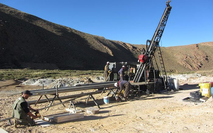 Drillers at Golden Arrow Resources Chinchillas silver-lead-zinc property in Argentina. Credit: Golden Arrow Resources