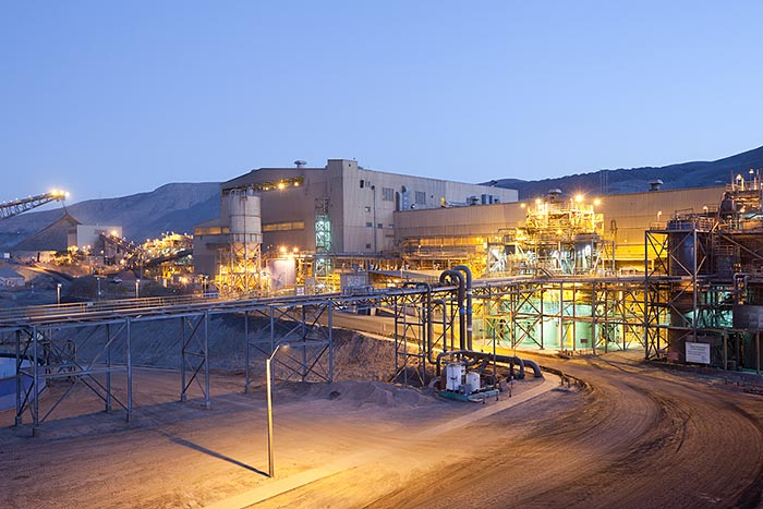 The processing plant at Lundin Mining's 80%-owned Candelaria copper mine in northern Chile's Atacama province. Credit: Lundin Mining