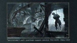 Storyboard panel from David Lean's unrealized 1986 film project Nostromo.
