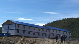 Workers outside a dormitory at Silver Bear Resources' Mangazeisky silver property in Russia's Far East, 400 km north of Yakutsk.  Source: Silver Bear Resources