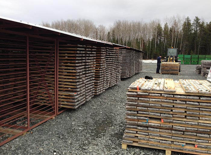 The core shack at Integra Gold's Lamque gold project. Source: Integra Gold