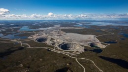 Dominion Diamond's majority-owned Ekati diamond mine in the Lac de Gras region of the Northwest Territories.Credit: Dominion Diamond