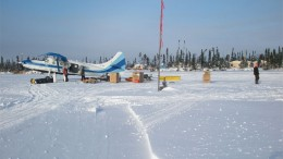 Supply flight to McFaulds Lake camp in northern Ontario. Credit: KWG Resources