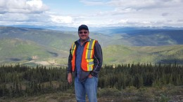 Victoria Gold president and CEO John McConnell at Victoria Gold's Eagle gold project in the Yukon. Photo by Matthew Keevil.