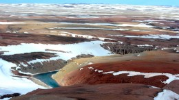 Aston Bay Holdings' Storm copper project, 20 km from tidewater in the northwest corner of Somerset Island, Nunavut. Credit: Aston Bay Holdings