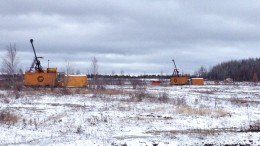 Drill rigs at Integra Gold's Lamaque gold project in Val-d'Or, Quebec. Credit: Integra Gold