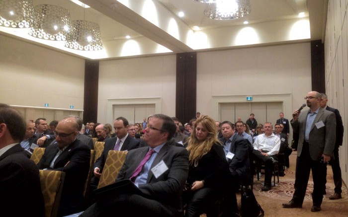 Attendees at a town hall meeting hosted by the TSX Venture Exchange in Toronto. Credit: TMX Group.