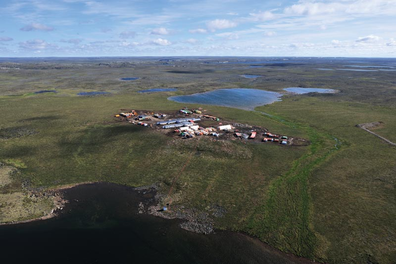 The exploration camp at Agnico Eagle Mines' Amaruq gold project in Nunavut, 50 km northwest of the company's Meadowbank gold mine. Credit: Agnico Eagle Mines
