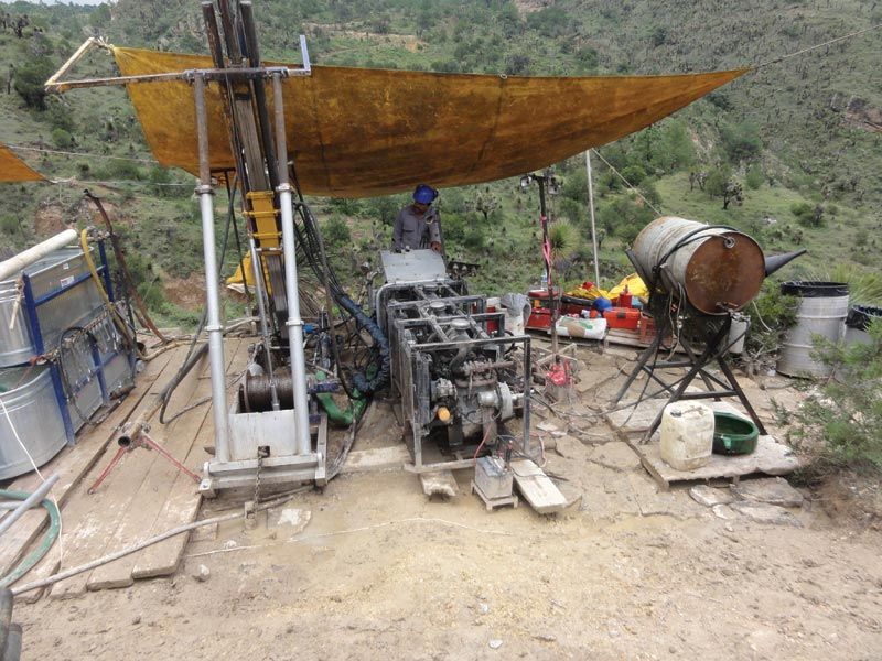 A driller at Almaden Minerals' Ixtaca gold-silver project in Mexico. Analyst Brent Cook commended the firm for its disclosures about the project. Credit: Almaden Minerals