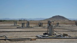 An in-situ copper recovery well field in 2012 at the Florence copper project in Arizona, now owned by Taseko Mines. Credit: Curis Resources