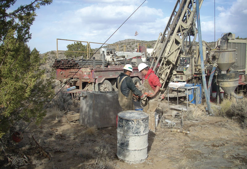 Workers at a drill site at NuLegacy Gold's Iceberg gold deposit in Nevada.  Credit: NuLegacy Gold
