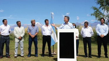 Argentina's President Mauricio Macri announcing a mining tax cut in San Juan province last month. Credit: The Presidency of Argentina