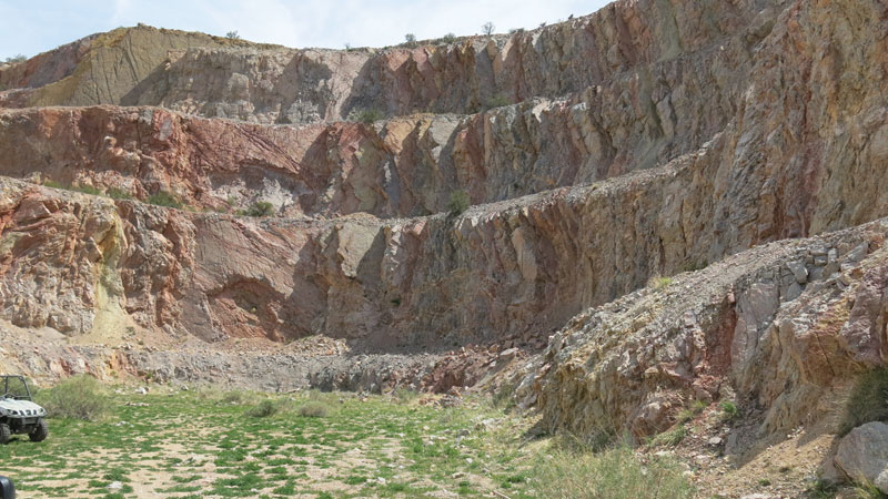 The historic Moosehead pit at Pilot Gold's Goldstrike gold property in Utah. Credit: Pilot Gold.