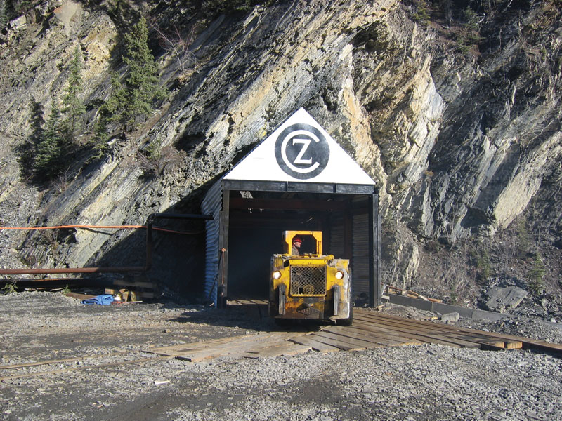 The portal to underground workings at Canadian Zinc's Prairie Creek zinc-lead-silver project in the Northwest Territories. Credit: Canadian Zinc