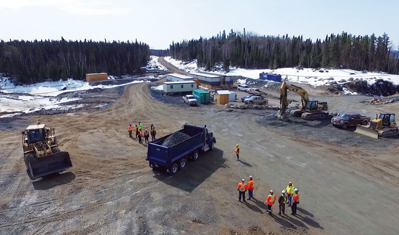 A truck loaded with development ore from Harte Gold's Sugar gold deposit in northern Ontario. Credit: Harte Gold.