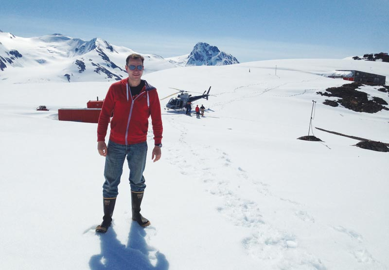 IDM Mining's president and CEO Robert McLeod at the Red Mountain project in British Columbia.Credit: IDM Mining