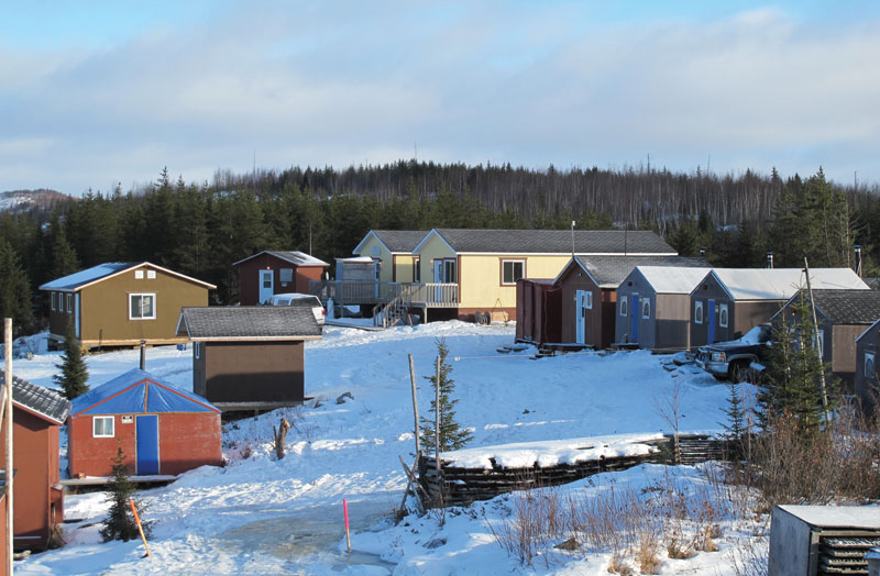 The camp at Eastmain Resources' Clearwater gold property in Quebec. Credit: Eastmain Resources.