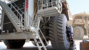 Tire maintenance at Barrick Gold's Cortez mine in Nevada. Credit: Barrick Gold