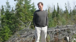 David Palmer at Probe Mines' Borden Lake gold deposit near Chapleau, Ont. Credit: Probe Mines