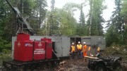 Drilling at the Horne 5 project in Rouyn-Noranda, Québec. Credit: Falco Resources.