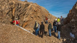 A mine tour of Pershing Gold's Relief Canyon project. Credit: Pershing Gold.