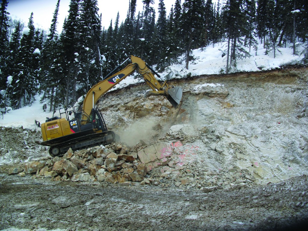 An excavator in action at Golden Predator Mining's 3 Aces gold project in the Yukon.  Golden Predator Mining