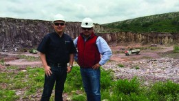 Canarc Resource CEO Catalin Chiloflischi (left) and project manager Louis Garcia at the El Compas gold-silver project in Zacatecas, Mexico. Credit: Canarc Resources
